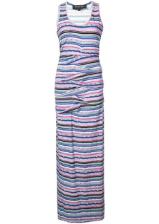 Nicole Miller fitted silhouette stripped design dress