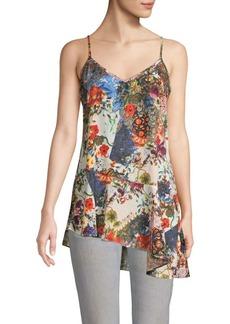 Nicole Miller Floral Asymmetrical Camisole