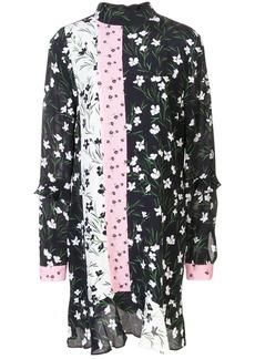 Nicole Miller floral print mini dress