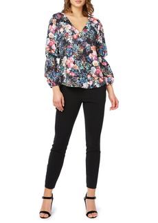 Nicole Miller Floral Puff Sleeve Blouse