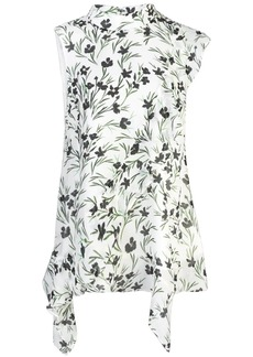 Nicole Miller floral sleeveless top