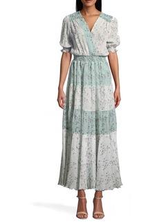 Nicole Miller Flower Dust Combo Maxi Dress