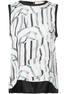 Nicole Miller front printed loose sleeveless top