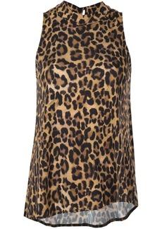 Nicole Miller Furry leopard blouse