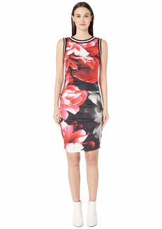 "Nicole Miller Giant Garden Linen ""Lauren"" Sheath Dress"