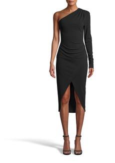 Nicole Miller Heavy Jersey One Shoulder Dress