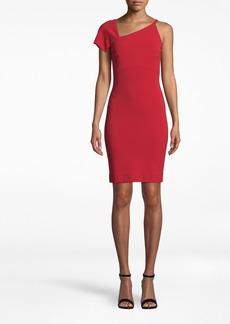 Nicole Miller Heavy Jersey One Shoulder Mini Dress