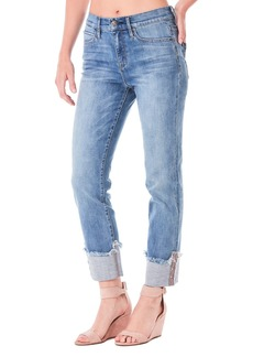 Nicole Miller High-Rise Cuffed Straight Jeans