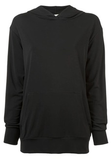 Nicole Miller stretchy matte jersey hoodie