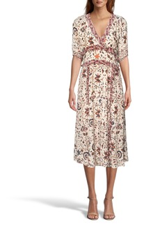 Nicole Miller Jakarta Print Midi Dress