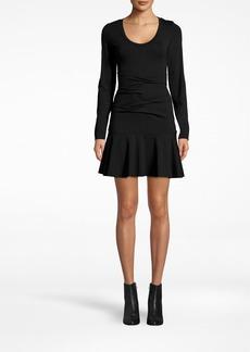 Nicole Miller Jersey Tidal Pleat Flare Dress
