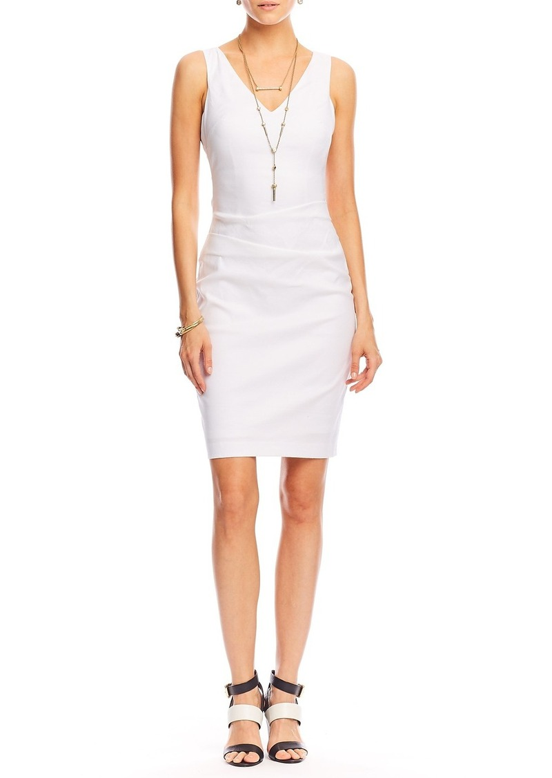 Nicole Miller Kenna Stretch Linen Dress