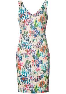 Nicole Miller Kenna tropical print V-neck dress