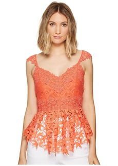 Nicole Miller Kinsey Crochet Lace Top
