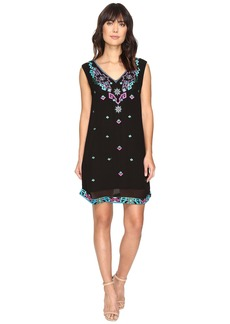 La Plage by Nicole Miller Aztec Embroidery Dress Cover-Up