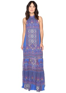 La Plage by Nicole Miller Beach Carousel Halter Maxi Dress Cover-Up