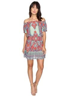 La Plage By Nicole Miller Beach Fleur Off the Shoulder Dress Cover-Up