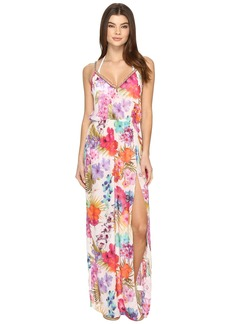 La Plage By Nicole Miller Braided Tank Maxi Cover-Up