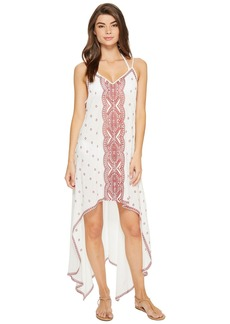 La Plage By Nicole Miller Embroidered Beach Scarf Dress/Cover-Up