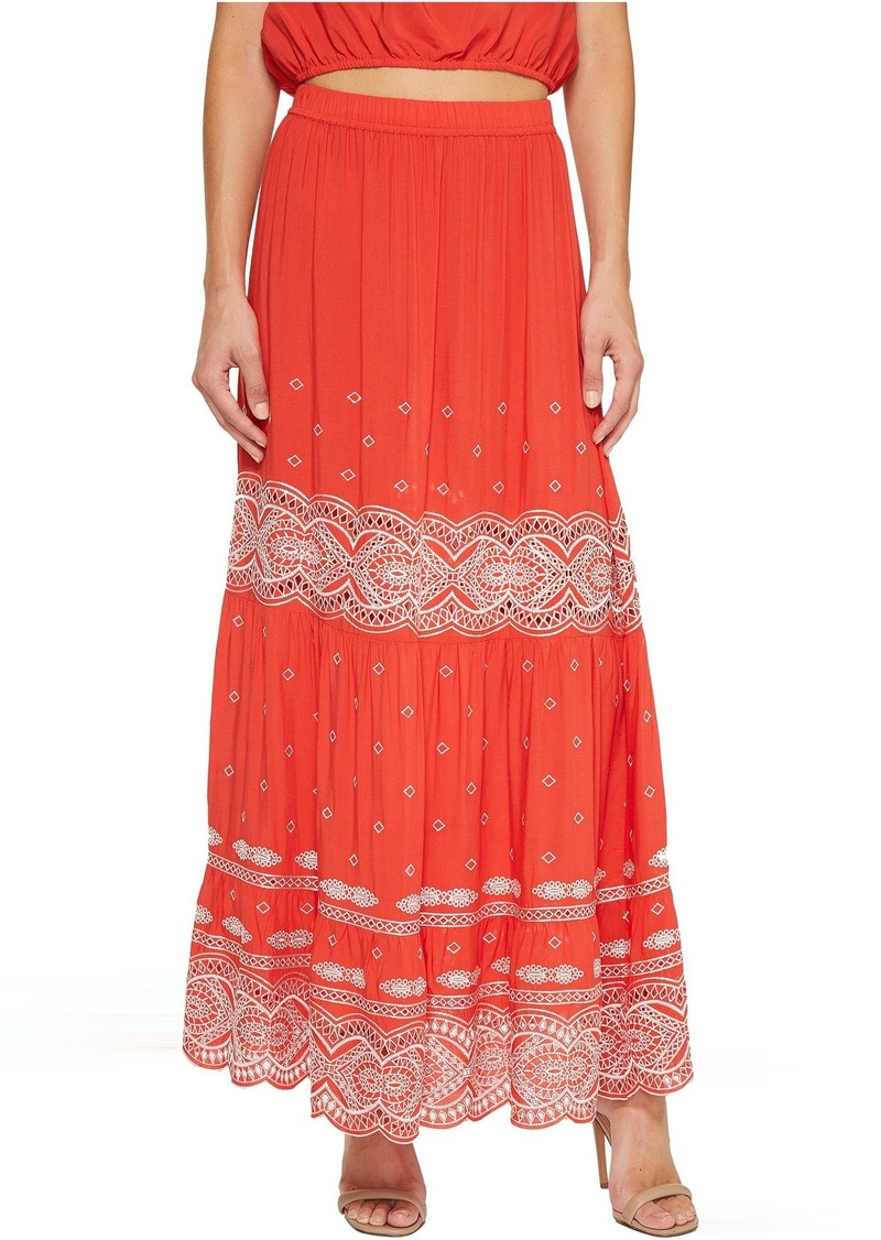 a8331c3f1f Nicole Miller La Plage By Nicole Miller Kalina Embroidered Skirt ...