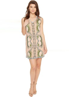 La Plage By Nicole Miller Tropical Peacock Beaded Cover-Up Dress