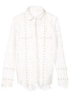 Nicole Miller lace boyfriend shirt