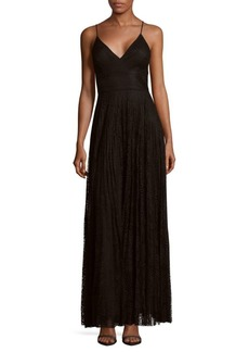 Nicole Miller Lace Floor-Length Dress