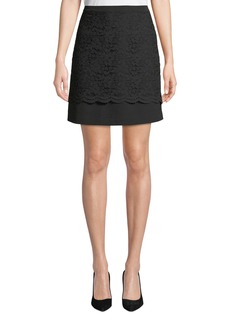 Nicole Miller Lace Overlay Mini Skirt