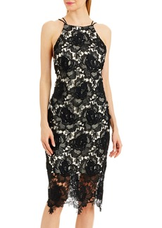 Nicole Miller Lace Strappy-Back Cocktail Dress