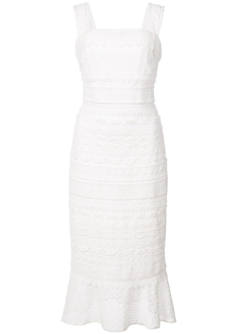 Nicole Miller lace trumpet dress