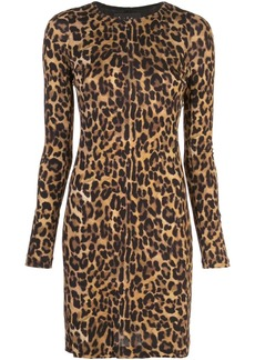 Nicole Miller leopard print mini dress