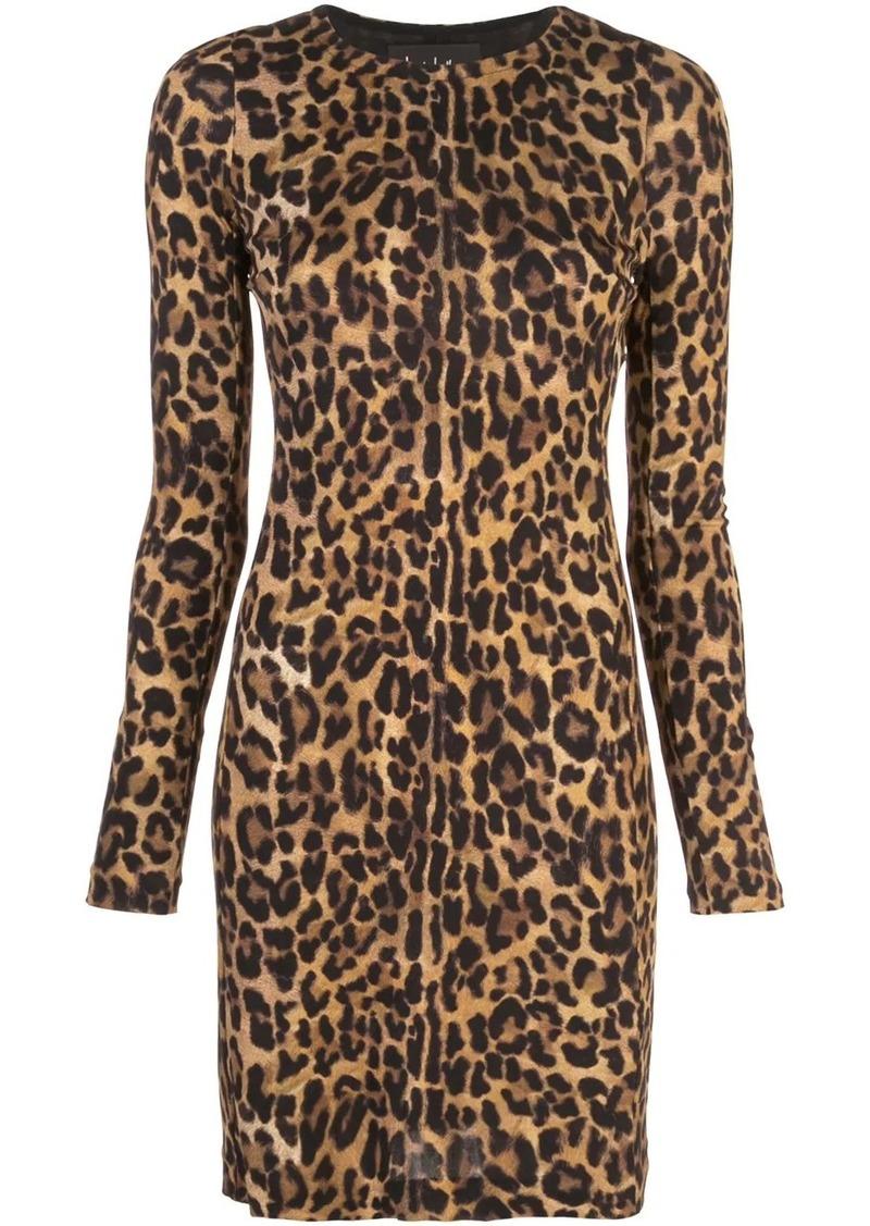 Nicole Miller leopard print mini dress