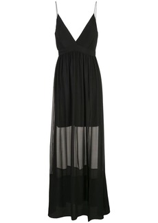 Nicole Miller long chiffon dress