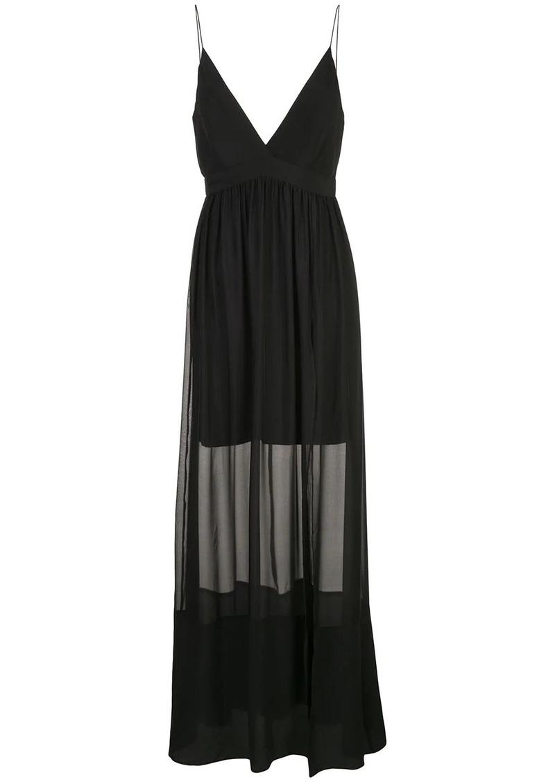 Nicole Miller long chiffon dress
