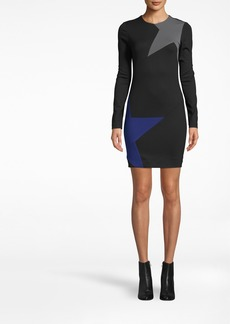 Nicole Miller Long Sleeve Ponte Dress
