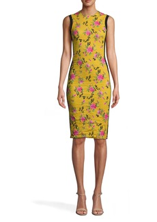 Nicole Miller Lotus Life Combo Sheath Dress