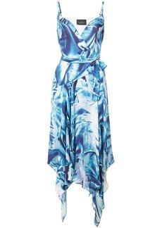 Nicole Miller metal pattern wrap dress