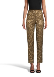 Nicole Miller Metallic Floral Pant