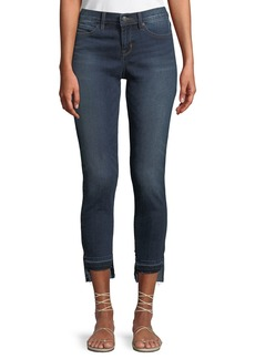 Nicole Miller Mid-Rise Step-Hem Skinny Jeans