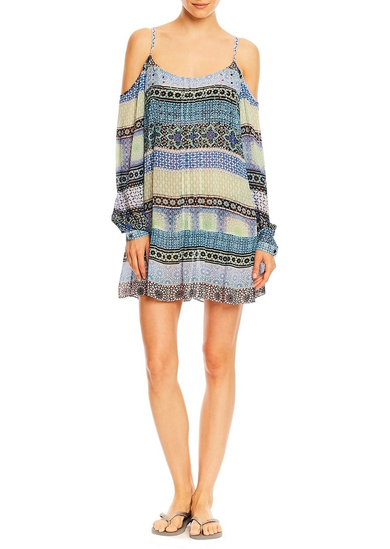 Nicole Miller Mosaic Stripe Tank Dress