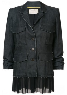 Nicole Miller multi-pocket button jacket