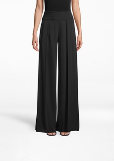 "Nicole Miller New Stretch Crepe ""skyscraper"" Pleat Pants"