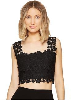 Nicole Miller Alexa Crochet Lace Crop Top
