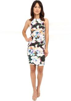 Nicole Miller Alix Layered Floral Linen Dress