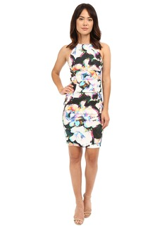Nicole Miller Alix Layered Floral Linen Dress