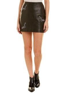 Nicole Miller Artelier Leather Skirt