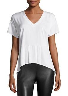 Nicole Miller Artelier Short-Sleeve Peplum Top