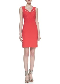 Nicole Miller Artelier Sleeveless Cutout-Neck Sheath Cocktail Dress