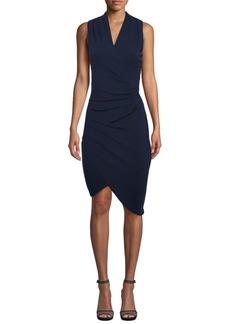 Nicole Miller Asymmetrical Faux Wrap Dress