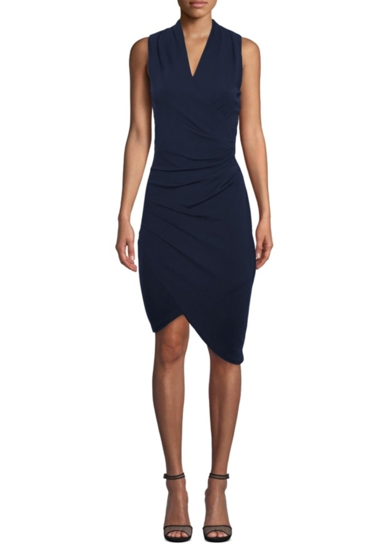 Nicole Miller Asymmetrical Faux Wrap Dress